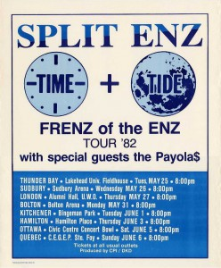 Frenz Of The Enz Tour '82 (Canada Promo Poster)
