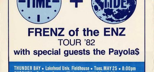 Frenz Of The Enz Tour '82 (Canada Promo Poster)