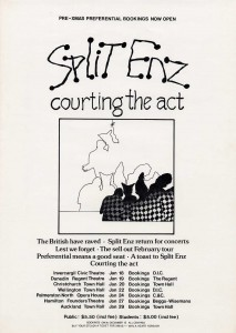 Courting The Act 1977 (New Zealand Promo Poster)