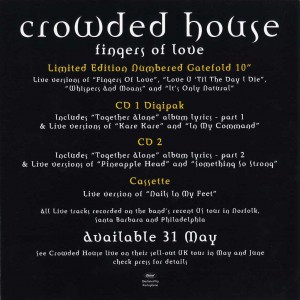 Fingers Of Love (UK Promo Display Flat)