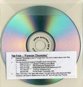 Forever Thursday (Australia Promo CD-R)