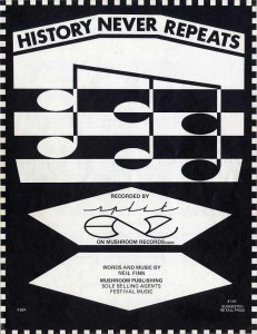 History Never Repeats (Australia Sheet Music)
