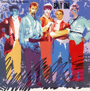 History Never Repeats - The Best Of Split Enz (USA Promo Display Flat)