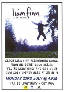 I'll Be Lightning (New Zealand Promo Flyer)