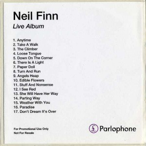 Live Album (UK Promo CD-R)