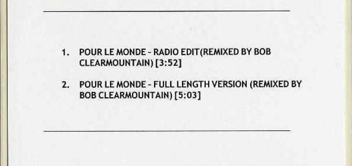 Pour Le Monde (UK Advanced CD-R)