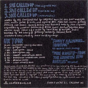 She Called Up (Europe Promo CD)