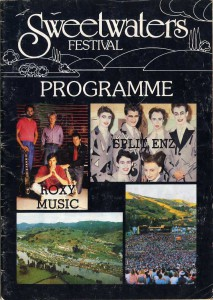 Sweetwaters Festival 1981 (New Zealand Tour Programme)