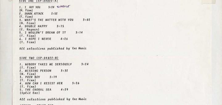 True Colours (USA Test Pressing LP)