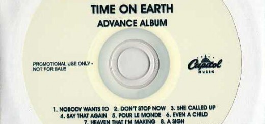 Time On Earth (Australia Promo CD-R)