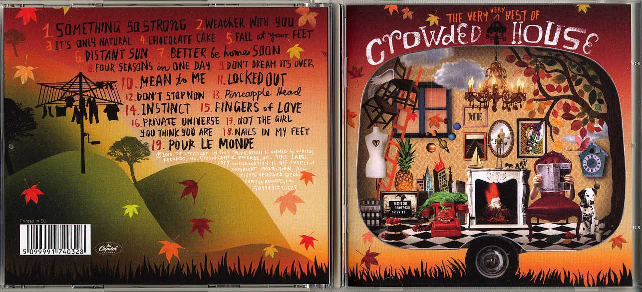 The Very Very Best Of Crowded House Europe Cd Kia Kaha