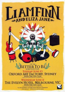 Better To Be Home Soon Tour 2008 (Australia Promo Poster)