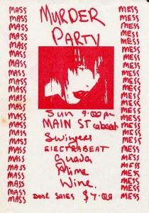 Murder Party 1980 (New Zealand Promo Poster)
