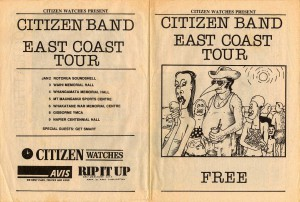 Citizen Band East Coast Tour (New Zealand Tour Programme)