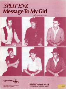 Message To My Girl (Australia Sheet Music)