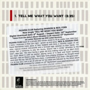 Tell Me What You Want (Europe Promo CD)