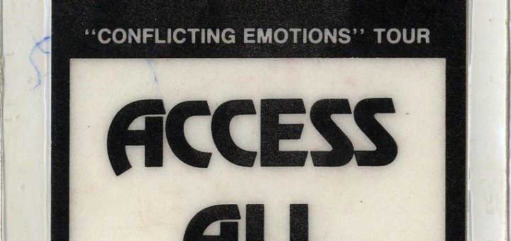 Conflicting Emotions Tour (New Zealand Tour Backstage Pass)