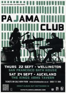 Pajama Club (New Zealand Tour Poster)